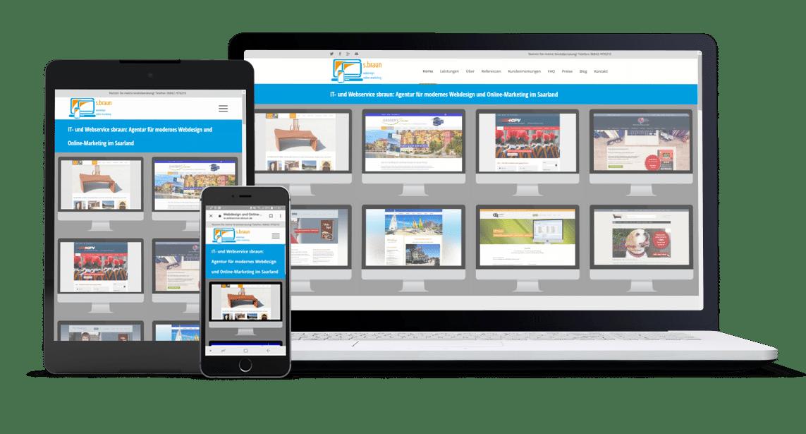 Webservice s.braun: Geschäftliche Websites sowie Werbekampagnen auf Google AdWords und Facebook für KMU, Selbständige und Gründer