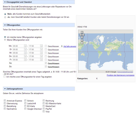 Google Places - Weitere Infos